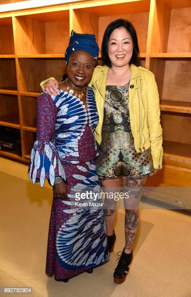 Angelique Kidjo and Margaret Cho attend the National Night Of Laughter And Song event hosted by David Lynch Foundation at the John F Kennedy Center...