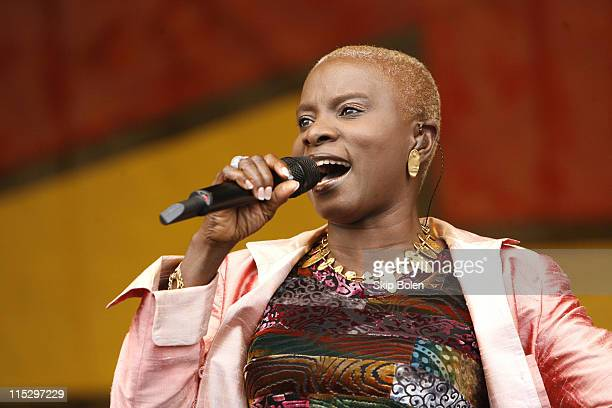 Angelique Kidjo during 37th Annual New Orleans Jazz Heritage Festival Presented by Shell 37th Annual New Orleans Jazz Heritage Festival Presented by...