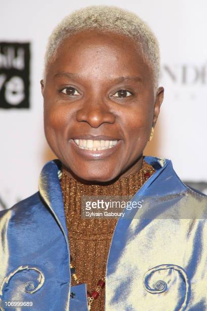 Angelique Kidjo during Conde Nast Media Group Presents 'The Black Ball' To Benefit 'Keep A Child Alive' Red Carpet at Hammerstein Ballroom at 311...