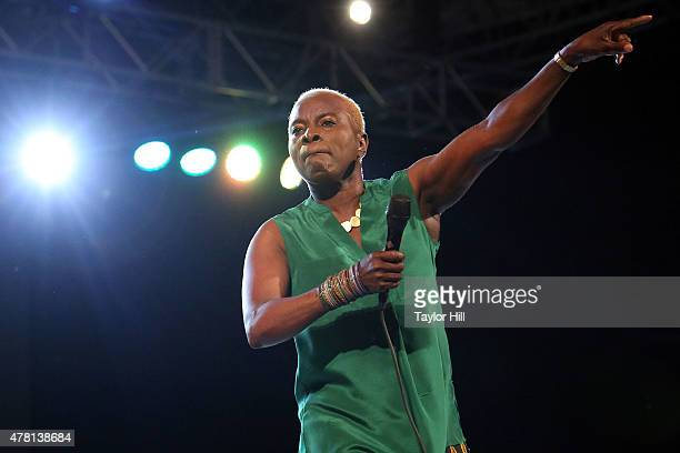 Angelique Kidjo performs during the City Parks Foundation Celebration of Thirty Years Of SummerStage at Rumsey Playfield Central Park on June 22 2015...