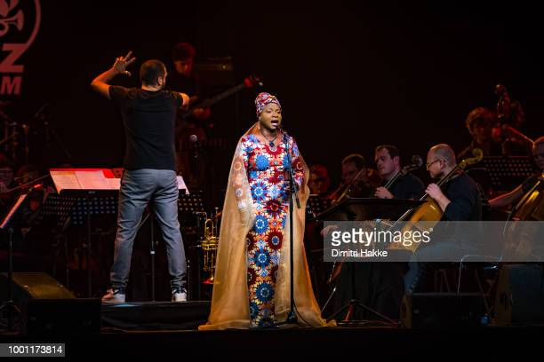 Angelique Kidjo performs on stage at North Sea Jazz Festival at Ahoy on July 15 2018 in Rotterdam Netherlands