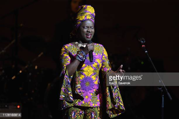 Angelique Kidjo performs on stage during 32nd Annual Tibet House US Benefit Concert Gala at Carnegie Hall on February 07 2019 in New York City