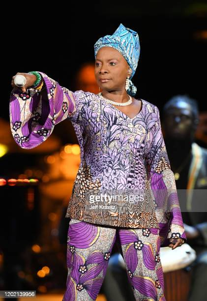 Angelique Kidjo performs onstage during the 62nd Annual GRAMMY Awards Premiere Ceremony at Microsoft Theater on January 26 2020 in Los Angeles...