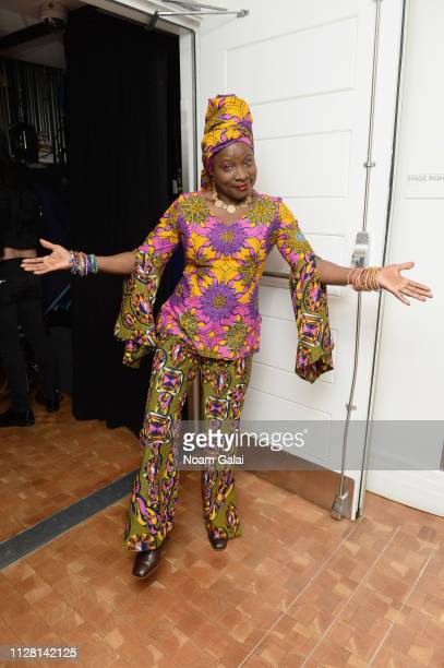 Angelique Kidjo poses backstage during the 32nd Annual Tibet House US Benefit Concert Gala at Carnegie Hall on February 07 2019 in New York City