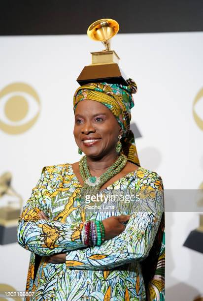Angelique Kidjo winner of Best World Music Album for Celia poses in the press room during the 62nd Annual GRAMMY Awards at Staples Center on January...