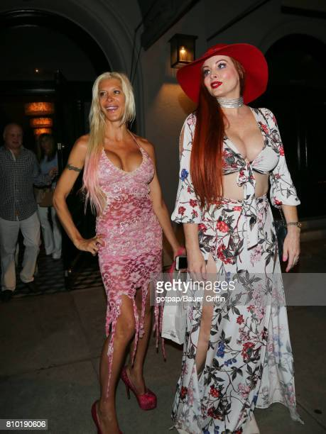 Angelique Morgan and Phoebe Price are seen on July 06 2017 in Los Angeles California