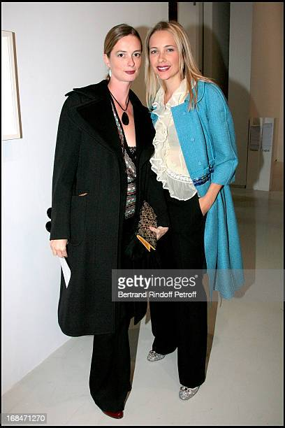 Angelique Motte and sister in law Melonie Hennessy at Preview of L'Atelier D'Alberto Giacometti At Centre Pompidou In Paris