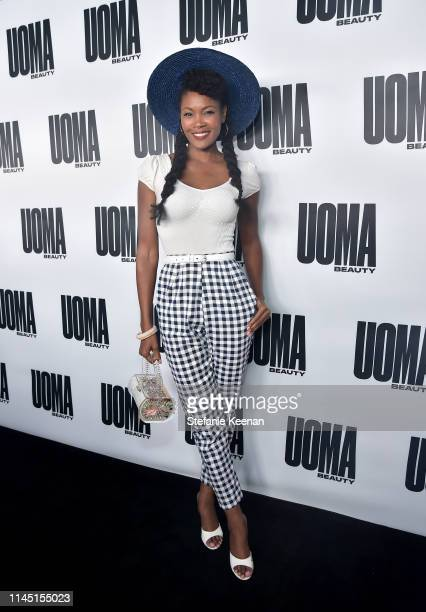 Angelique Noire attends UOMA Beauty Launch Event at NeueHouse Hollywood on April 25 2019 in Los Angeles California