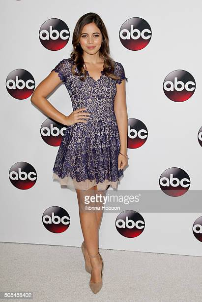 Angelique Rivera attends the Disney/ABC 2016 Winter TCA Tour at Langham Hotel on January 9, 2016 in Pasadena, California.