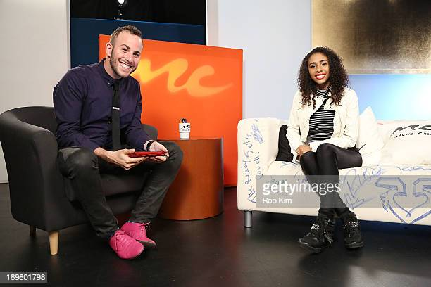 Angelique Sabrina and host Micah Jesse visit Music Choice's U A at Music Choice on May 28 2013 in New York City