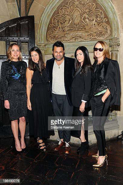 Angelique Soave Katherine Ross Juan Carlos Obando Rochelle Gores Fredston and Lisa Love attend Juan Carlos Obando Jewelry Collection Launch Dinner at...