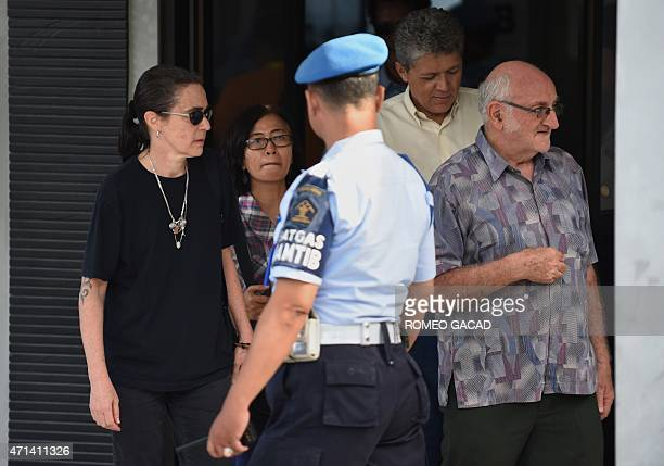 Angelita Muxfeldt cousin of Brazilian drug convict and death row prisoner Rodrigo Gularte accompanied by Brazilian deputy chief of mission Leonardo...