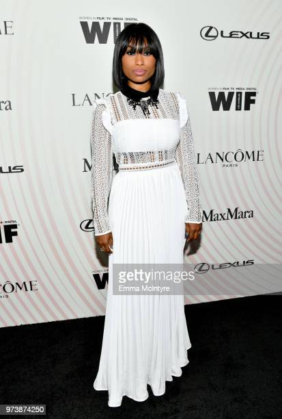 Angell Conwell attends the Women In Film 2018 Crystal Lucy Awards presented by Max Mara Lancôme and Lexus at The Beverly Hilton Hotel on June 13 2018...