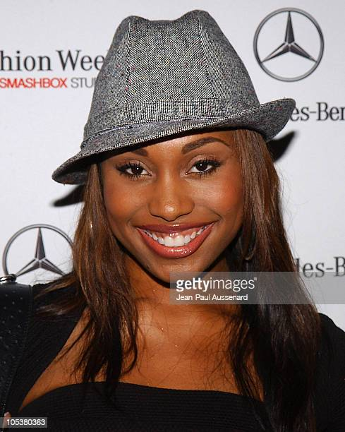 Angell Conwell during MercedesBenz Fall 2004 Fashion Week at Smashbox Studios Day 5 Arrivals at Smashbox Studios in Culver City California United...