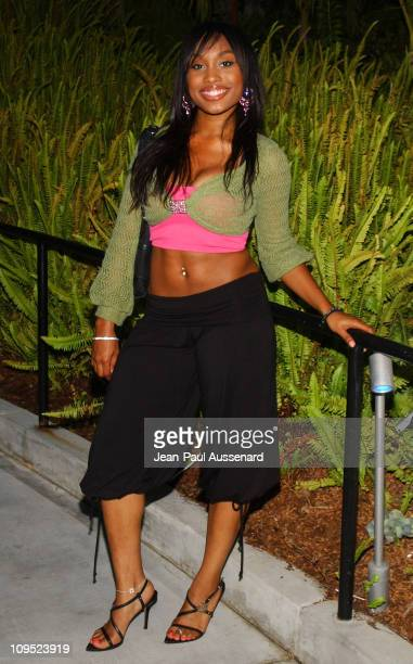 Angell Conwell during Russell Simmons Work HardPlay Harder Lounge Sponsored by Courvoisier and W Hotel Arrivals at Poolside at W Hotel in Westwood...