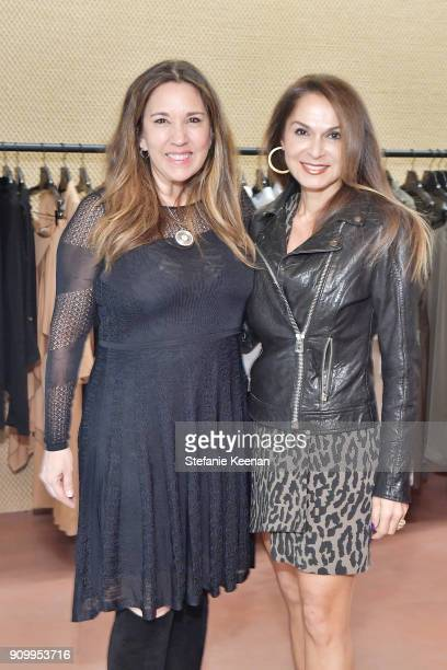 Angella Nazarian and guest attend Conde Nast The Women March's Cocktail Party to Celebrate the One Year Anniversary of the March the Publication of...