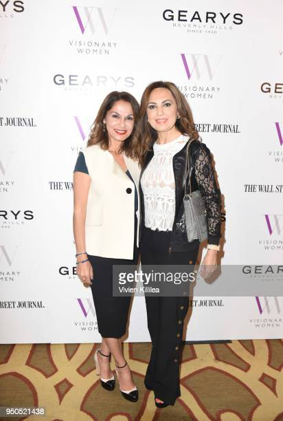 Angella Nazarian and Maggie Soleimani attend Visionary Women Presents The New Normal How Social Media is Reshaping Your Life at The Montage on April...