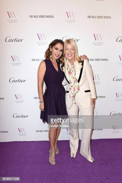 Angella Nazarian and Mayor of Beverly Hills Lili Bosse attend Visionary Women Honors Demi Moore in Celebration of International Women's Day on March...