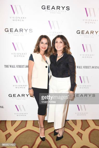 Angella Nazarian and Orna Delrahim attend Visionary Women Presents The New Normal How Social Media is Reshaping Your Life at The Montage on April 23...