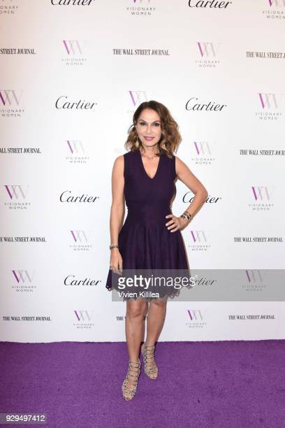 Angella Nazarian attends Visionary Women Honors Demi Moore in Celebration of International Women's Day on March 8 2018 in Beverly Hills California