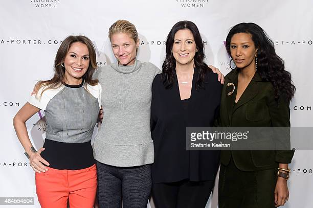 Angella Nazarian Elizabeth Guber Sugarman Lauren Taschen and Gelila Puck attend Visionary Women Presents Women In Technology at SLS Hotel on February...