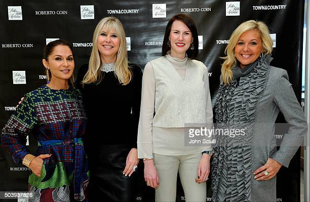 Angella Nazarian Irena Medavoy Jenn Bruno and guest attend Town Country's Stellene Volandes and Irena Medavoy Celebrate The Golden Globes with a...