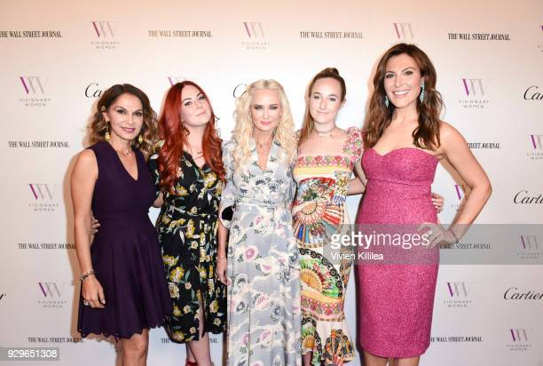 Angella Nazarian Madison Venit Trina Venit Olivia Venit and Thea Andrews attend Visionary Women Honors Demi Moore in Celebration of International...