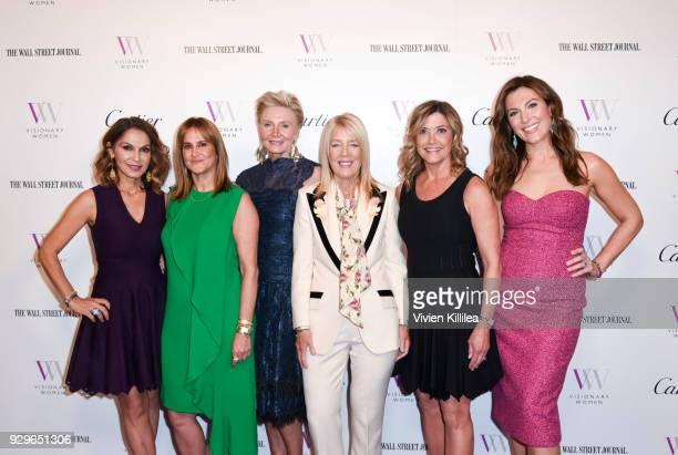 Angella Nazarian Nina Kotick Lili Bosse Karen Murphy O'Brien and Thea Andrews attend Visionary Women Honors Demi Moore in Celebration of...
