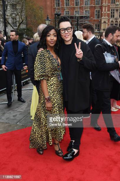 Angellica Bell and Gok Wan attend The Olivier Awards 2019 with Mastercard at The Royal Albert Hall on April 7, 2019 in London, England.