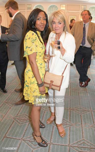 Angellica Bell and guest attend the Fortnum Mason Food and Drink Awards at the Diamond Jubilee Tea Salon in the Piccadilly flagship store on May 16...