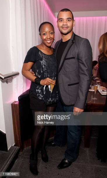 Angellica Bell and Michael Underwood attend the launch of Aquum on March 11, 2009 in London, England.