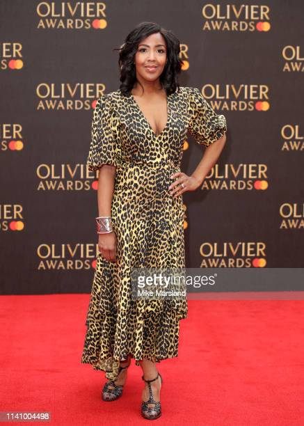 Angellica Bell attends The Olivier Awards 2019 with MasterCard at the Royal Albert Hall on April 07, 2019 in London, England.