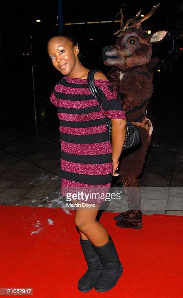 "Angellica Bell attends the press night of ""The Snowman"" on December 6, 2007 at the Peacock Theatre in London, England."