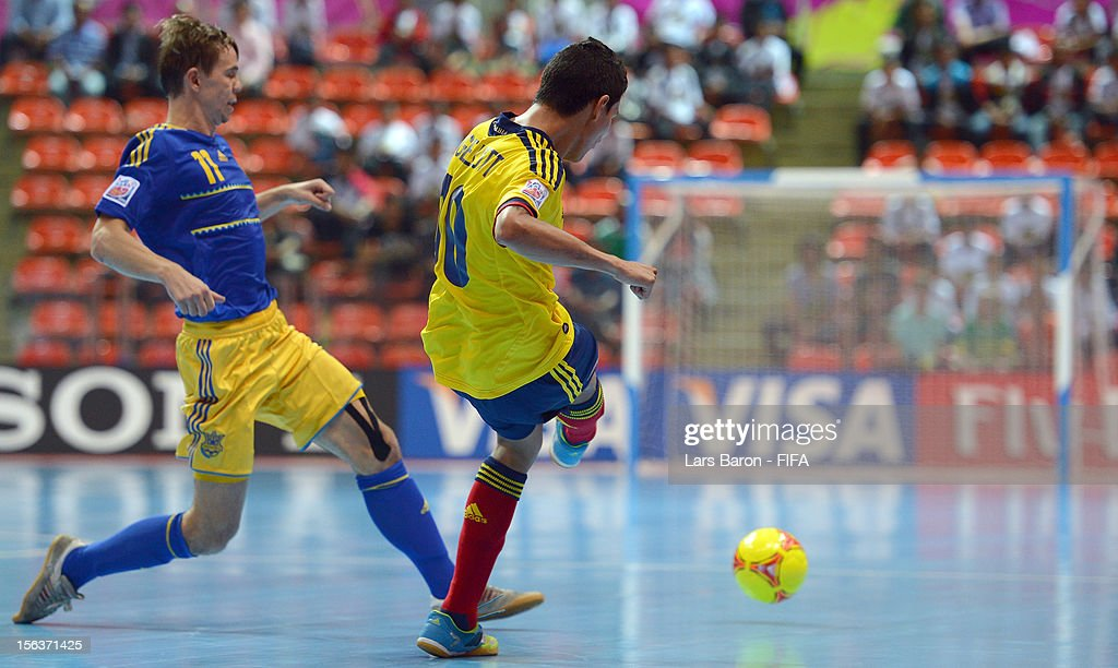Colombia v Ukraine: Quarter-Final - FIFA Futsal World Cup Thailand 2012 : News Photo