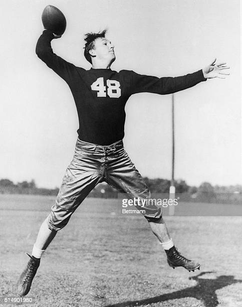 Angelo Bertelli a slim passing wizard put one of the greatest forward passing exhibitions into the collegiate football files today as he passed Notre...