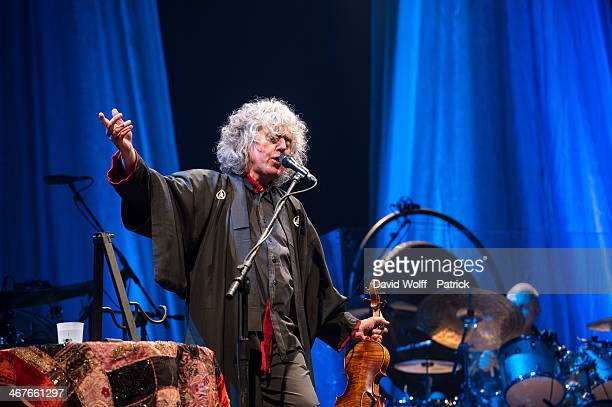Angelo Branduardi performs at L'Olympia on February 7 2014 in Paris France
