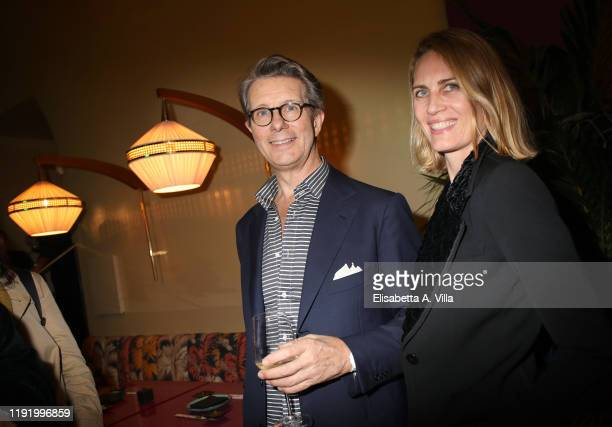 Angelo Bucarelli and Isabella Borromeo attend Moken opening and dinner party on December 04 2019 in Rome Italy