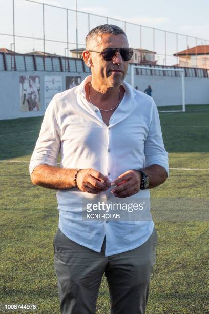 Angelo Carbone Milan observer former player of Ac Milan during the inauguration of the Milan Academy technical center in Corigliano Calabro in...