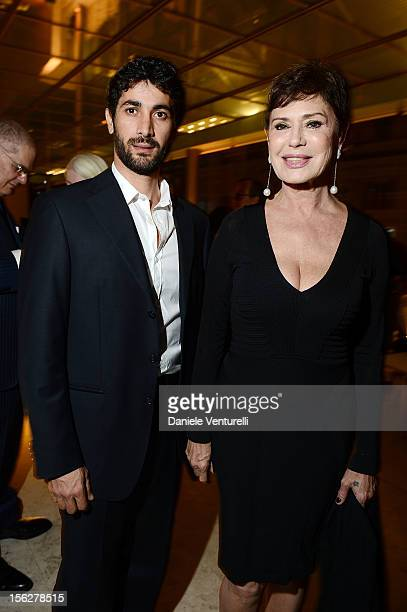 Angelo Costabile and Corinne Clery attend the 2012 Telethon Gala during the 7th Rome Film Festival at Open Colonna on November 12 2012 in Rome Italy
