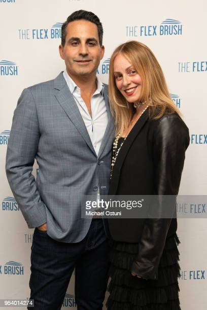 Angelo David Pisacreta and Robin Pack attend Angelo David Pisacreta Jacob Guttman Celebrate Spring and Preview the Flex Brush on May 2 2018 in New...