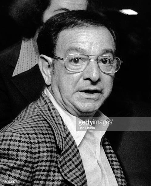 Angelo Dundee attends Muhammad Ali vs Earnie Shavers Boxing Match on September 29 1977 at Madison Square Garden in New York City