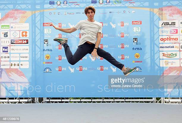 Angelo Duro attends Giffoni Film Festival 2015 photocall on July 18 2015 in Giffoni Valle Piana Italy