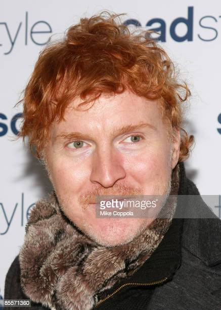 Angelo Filomeno attends the Savannah College of Art and Design's annual Style Etoile Awards Gala at James Cohan Gallery on March 23, 2009 in New York...