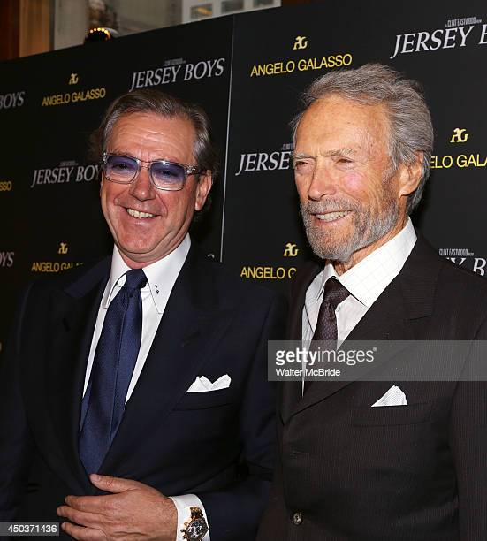 Angelo Galasso and Clint Eastwood attends a special New York screening reception for 'Jersey Boys' hosted by Angelo Galasso at Angelo Galasso on June...