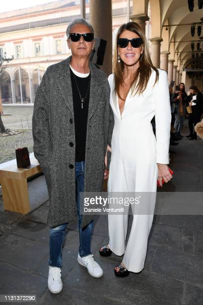 Angelo Gioia and Anna Dello Russo attend the Etro show at Milan Fashion Week Autumn/Winter 2019/20 on February 22 2019 in Milan Italy