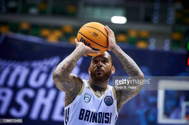 Angelo Harrison of Happy Casa Brindisi during Basketball Champions League match between Hereda San Pablo Burgos and Happy Casa Brindisi on November...