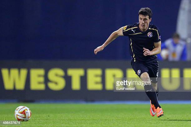 Angelo Henriquez of Dinamo Zagreb in action during the UEFA Europe League match between GNK Dinamo Zagreb and FC Astra Giurgiu at the Maksimir...