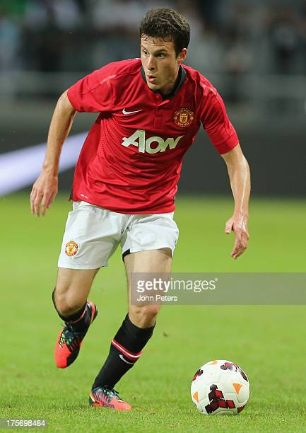 Angelo Henriquez of Manchester United in action during the preseason friendly match between AIK Fotboll and Manchester United at Friends Arena on...