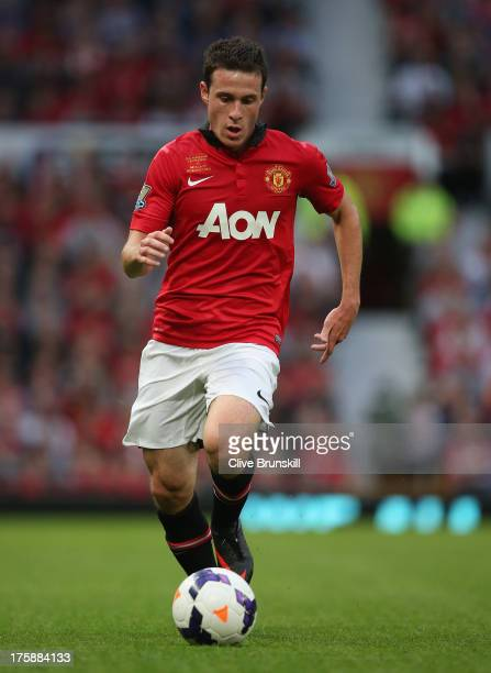 Angelo Henriquez of Manchester United in action during the Rio Ferdinand Testimonial Match between Manchester United and Sevilla at Old Trafford on...