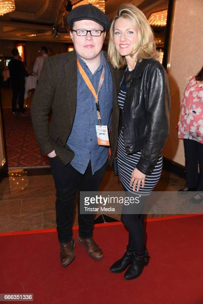 Angelo Kelly and Ella Endlich during the after show party of the television show 'Willkommen bei Carmen Nebel' on April 8 2017 in Magdeburg Germany